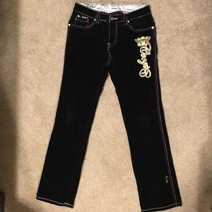 Coogi Black Velvet Jeans Size 14